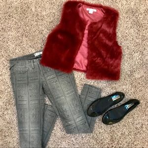 Jackets & Blazers - 🔥 Red Faux Fur Vest Size Small